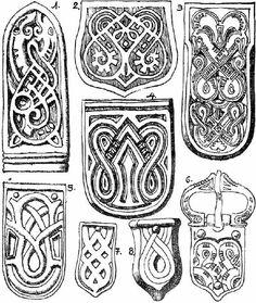 Kígyós minta, hun-avar arany, ezüst és bronz szíjvégeken.  -a magyar turáni ornamentika története - Celtic Symbols, Ancient Symbols, Ancient Art, Hungarian Embroidery, Embroidery Art, Embroidery Designs, Viking Ornament, Nordic Vikings, Early Middle Ages