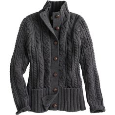 Women's Fisherman Cardigan Sweater ($140) ❤ liked on Polyvore featuring tops, cardigans and cashmere cardigan