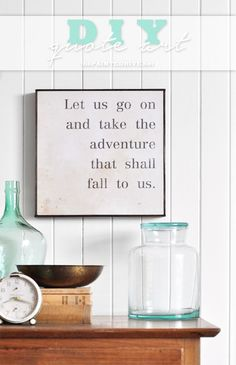 DIY Quote Art…and free printable sign! | The Painted Hive | Bloglovin'