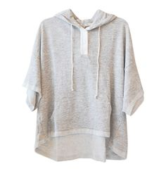 Clu Short Sleeve Sweatshirt in Heather Grey available at les pommettes los angeles