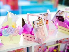 Jillian and Jilleen's Sweet Shoppe Themed Party – Birthday Events Place, Debut Ideas, Purple Table, Glitter Force, Party Needs, Wonderland Party, Unicorn Birthday Parties, Host A Party, Paper Lanterns