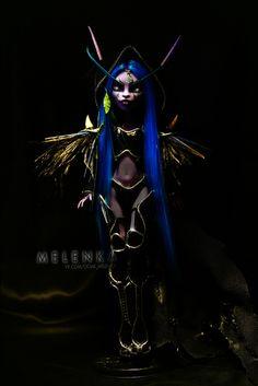 #melenka #monster #high #repaint #elf #fantasy #wow #warcraft #jane #epic #ooak #custom #doll #customdoll #monsterhigh #janeboolitle #elven #game #blue
