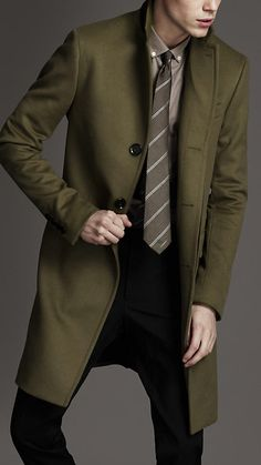 Long Wool Cashmere Top Coat | Burberry