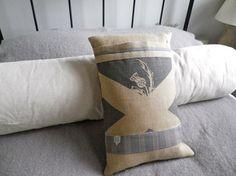 hand printed Scottish Saltire flag cushion cover by helkatdesign