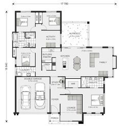 Floor plan friday: jack and jill bathroom for the kids house Dream House Plans, Modern House Plans, Small House Plans, House Floor Plans, The Plan, How To Plan, Jack Und Jill, Bathroom Floor Plans, Home Design Floor Plans