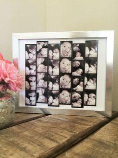 DIY Photo Booth Strip Display - Cute Gift Idea