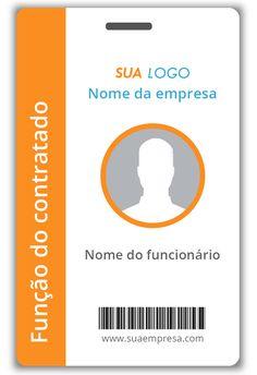 Modelo de crachá 11 Free Monogram, Monogram Fonts, Id Design, Logo Design, Identity Card Design, Employee Id Card, Wedding Invitation Background, Business Cards Layout, Id Card Template