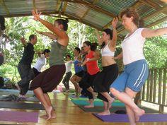 A Yoga retreat