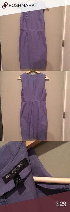 Banana Republic factory work dress 6 Periwinkle knee length work dress Banana Republic Dresses Midi