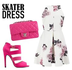 """""""Summer Style: Cutout Skater Dress"""" by charlotte-shuann ❤ liked on Polyvore"""