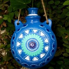 Handpainted Persian Blue Hanging Planter ( Only for Bangalore) Persian Blue, Garden Accessories, Hanging Planters, Hand Painted, Christmas Ornaments, Holiday Decor, Home Decor, Garden Box Raised, Decoration Home