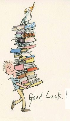 Cairn of books! The brilliant Quentin Blake.