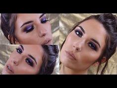 Mandy-Lee - Purple Smokey Eye Look with Dewy Skin - YouTube