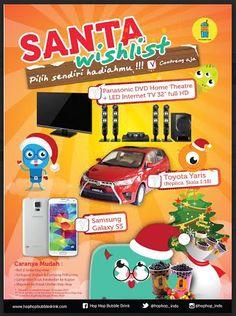 Santa Wishlist: Pilih Sendiri Hadiahmu Promo Sampai 18 Januari 2015