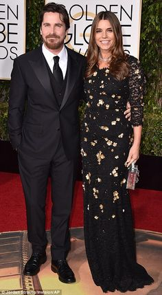 Dynamic duos: Christian Bale was joined by wife Sibi Blazic (L), while Matt Damon brought along his wifeLuciana Barroso