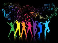 Buy Party People by kjpargeter on GraphicRiver. Colourful silhouettes of people dancing on a music notes background. Files included – ai (version eight and eps. Just Dance, Let's Dance, Neon Party, Disco Party, Colorful Party, Disco Theme, Start The Party, Dance Images, People Dancing