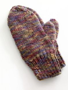 Ravelry: Easy-Knit Mittens pattern by Lion Brand Yarn Jiffy yarn 135-270 yards on 6 and 8 needles
