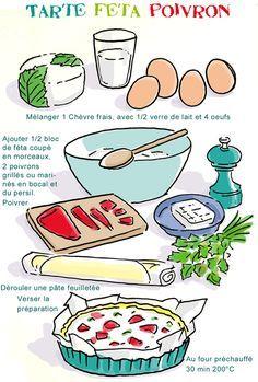 Tarte salée feta poivrons