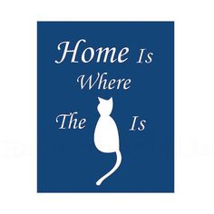 Cat Decor Home Wall Art Pet Print Kitty Lovers by HausofAriella, $15.00