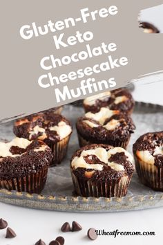 These low carb and gluten-free chocolate cheesecake muffins make a great snack, a heathy dessert or just whenever you feel like something chocolatey. A gluten-free keto muffin that I easy to make and tastes rich and decadent. Gluten Free Recipes For Breakfast, Gluten Free Muffins, Gluten Free Breakfasts, Gluten Free Baking, Muffin Recipes, Low Carb Recipes, Stevia Chocolate, Chocolate Muffins, Gluten Free Chocolate