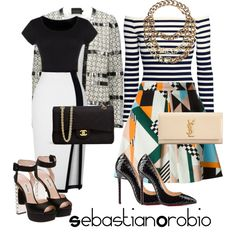 A fashion look from February 2015 featuring H&M tops, Gestuz blazers and MSGM skirts. Browse and shop related looks.