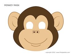 Make a monkey mask free printable is the perfect icebreaker project to keep kids who arrive at the Monkey Party busy. Printable Halloween Masks, Printable Animal Masks, Monkey Template, Preschool Crafts, Crafts For Kids, Giraffes Cant Dance, Monkey Mask, Mascaras Halloween, Monkey Costumes