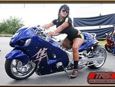 Click this image to show the full-size version. Custom Motorcycles, Custom Bikes, Hyabusa Motorcycle, Custom Hayabusa, Mode Of Transport, Sportbikes, Lady Biker, Cool Bikes, Image