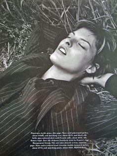Linda Evangelista by David Sims for Harper's Bazaar Magazine US, September 1993