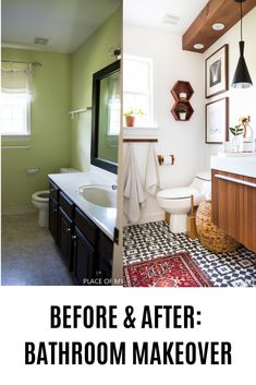 BEFORE AND AFTER BATHROOM MAKEOVER. You won