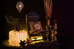 Interior Styling, Moroccan Style, Moroccan Glassware, Sheepskin, Dark and Sexy, Interior Decorating, Moroccan Lantern