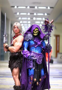 He Man and Skeletor 2014 Phoenix Comicon (PCC)