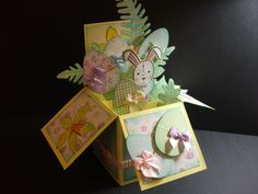 Boxed pop up card