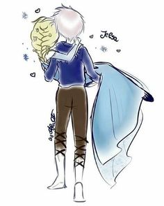 Jack + Elsa = Jelsa Elsa Frozen, Frozen Love, Disney Frozen, Jelsa, Disney Couples, Disney Love, Cute Couples, Elsa Anime, Crossover