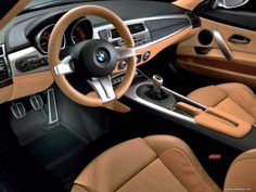 brown leather car interiors | -brown leather salon BMW Z4-Coupe-Concept, BMW, brown, car interior ...