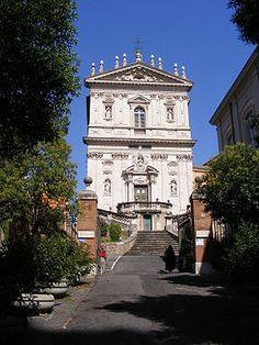 drugi typ rzymskiej wczesnobarokowej fasady bezwieżowej - Santi Domenico e Sisto