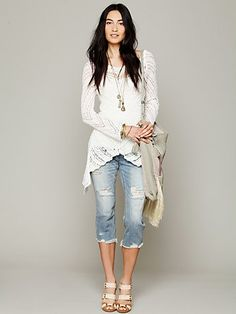 In Any Direction Pullover & cropped jeans