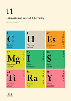 International Year of Chemistry 2011 - Print Design - Obeymagazine