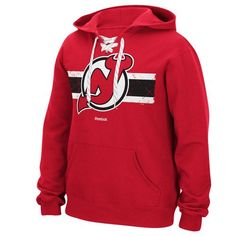 Reebok NHL Youth New Jersey Devils Drop Pass Full Zip Hoodie