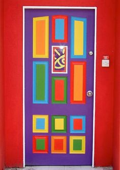 door from Barbados. This door is amazing. I actually am thinking I'll do this to my front door. Cool Doors, Unique Doors, When One Door Closes, Knobs And Knockers, Painted Doors, Wooden Doors, Closed Doors, Windows And Doors, Front Doors