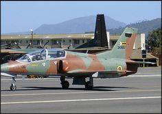 Zimbabwe Air Force Chinese built Hongdu K-8 (or JL-8) Karakorum, single engine trainer & light attack aircraft.