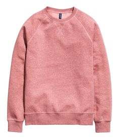 Salmon long-sleeved sweatshirt with soft, brushed inside.│ H&M Divided Guys