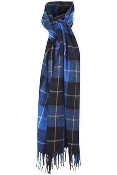 I love this scarf so much I'd like both colours! Blue & Navy Tartan Check Scarf in ACCESSORIES from Apricot #ApricotLoves