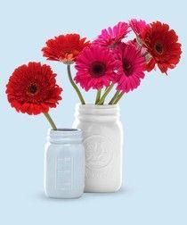 mason-jar bud vases