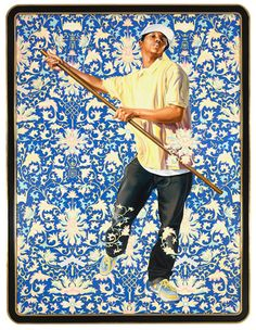 Kehinde Wiley - Design_For_A_Stained_Glass_Windw_With_Wildman_II