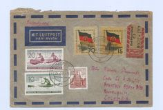 Germany 1961 Register M/Franking Cover Karl Marx Stad > Barranquilla Colombia