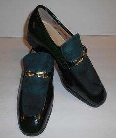 Vintage Volare By Carlo Leoni Leather Green Shoes Made In Italy Mens Size 9 M #Volare #LoafersSlipOns