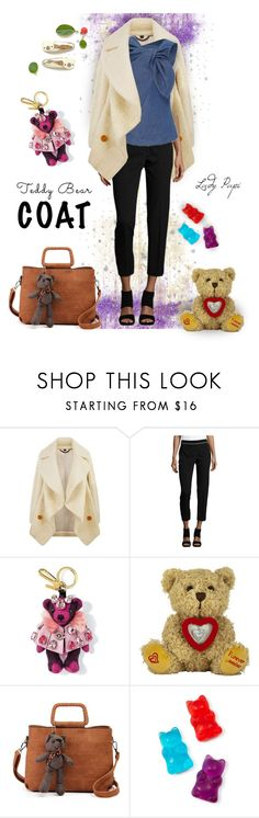 """""""Teddy Bear Coat"""" by papillon-ze-cat ❤ liked on Polyvore featuring Burberry, Karl Lagerfeld, Carolina Herrera and Celebrate Shop"""