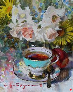 100 Tea And Coffee Cup Art Ideas Coffee Cup Art Cup Art Art