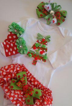 Newborn Baby girl Santa outfit Newborn baby by BeBeBlingBoutique