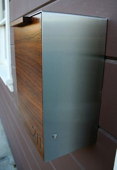 Modern wall mount mailbox Indoor Modern Mailbox Narrow Teak Wall Mounted Mailbox By Ceceworks Black Mailbox Modern Mailbox Wall Pinterest 25 Best House Exterior Mailboxes Images Wall Mount Mailbox